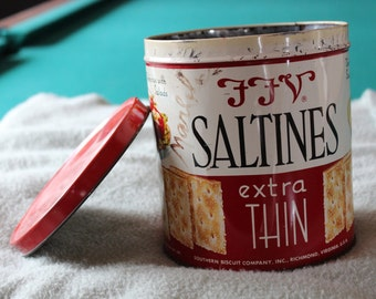 FFV Saltine Canister with original Marbles