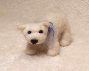 Kit: Needle Felted Polar Bear