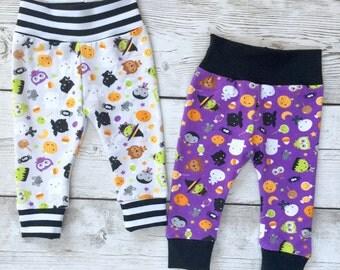 Halloween leggings, Halloween pants, baby leggings, joggers, Hipster leggings, baby pants