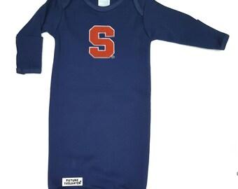 Syracuse Orange Baby Layette Gown