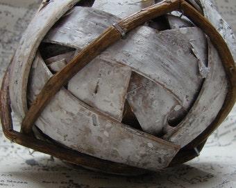 Birch Bark Balls 6'' Bowl Filler