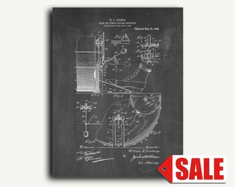 Patent Art - Drum And Cymbal Playing Apparatus Patent Wall Art Print Poster