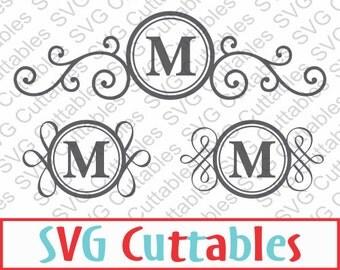 Mailbox Monogram Frame SVG, EPS, DXF, Vector, Digital Cut File