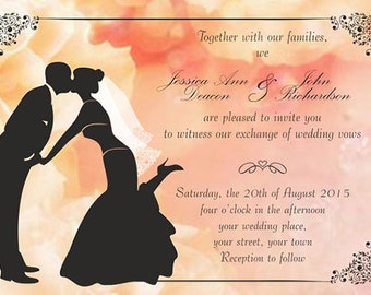 Downloadable Personalised/Customised Wedding Invitations Save the date RSVP Thank you cards Place Cards Table Numbers
