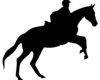 HORSE JUMPING DECAL - horse pony sticker *** in stock - many colors available