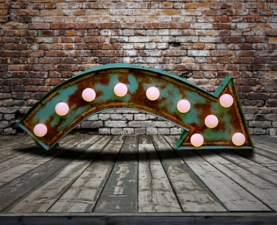 Fairground Marquee Arrow at Lamplight Design Co