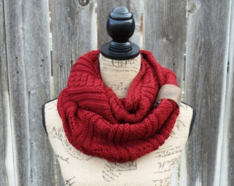 Womens Knit Infinity Scarf, Knit  Scarves, Womens Knit Infinity Scarf, Knit Infinity Scarves, Infinity Knit Scarfs, Knitted Scarves