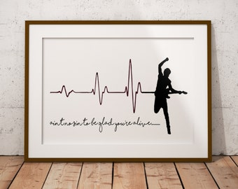 BRUCE SPRINGSTEEN Ain't No Sin To Be Glad You're Alive Print