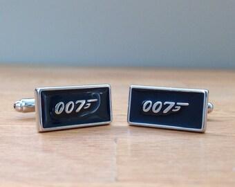 007 Bond silver cufflinks