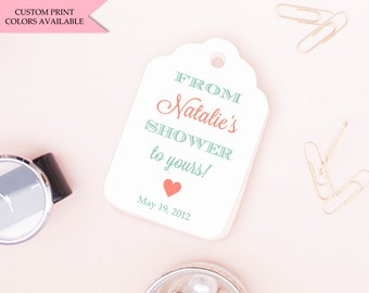 From my shower to yours tags (30) - Soap tags - Bridal shower soap favors
