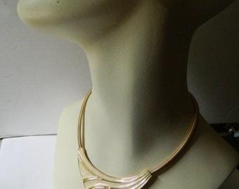 signed- necklace- enameled