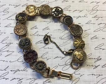Vintage Victorian Button Bracelet