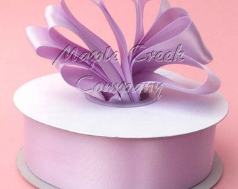 1-1/2 inch x 50 yards of Orchid Double Face Satin Ribbon - shines on both sides