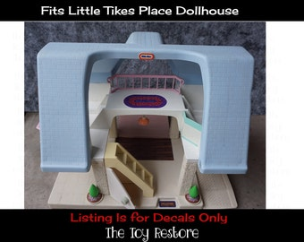 New Replacement Decals Stickers fits 1990s Little Tikes Place Dollhouse