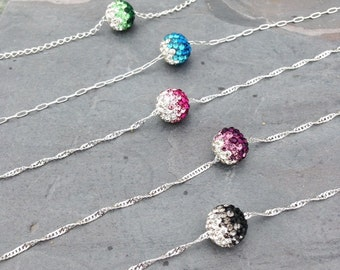 Shamballa bead necklace / crystal /mother gift