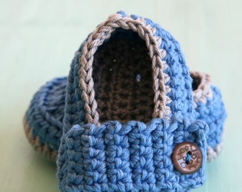 Handmade crochet Little Prince Loafers, newborn photography prop, everyday wear, made to order baby shoes, cotton shoes, baby shoes, crochet