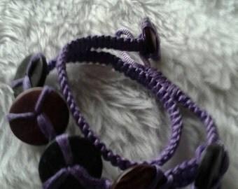 Purple Woven Stacked Bracelet