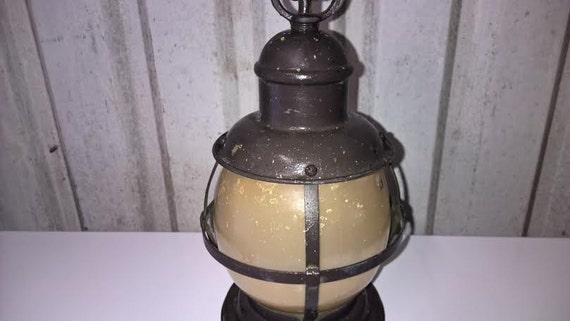 Vintage Railroad Lantern Hanging Light Metal