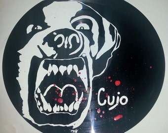 classic horror cujo hand painted vinyl record