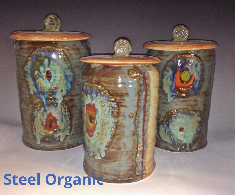 ceramic kitchen canisters handmade 6 inch medium ceramic kitchen canister