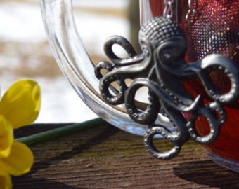 Octopus Tea Charm