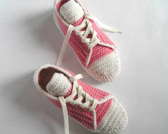 SLIPPERS LADY CONVERSE - Rose Crochet Indoor Shoes - Trend 2016