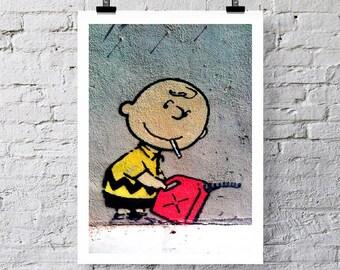 Banksy Charlie Brown Art print / greetings card