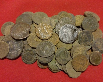 LARGE Size Ancient Roman Coins *Low Grade* / 20-30 mm / 330 AD Constantine / 1 COIN