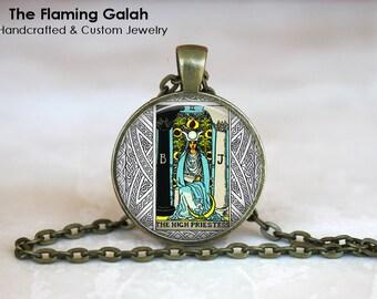 THE HIGH PRIESTESS Pendant • Tarot Card • Major Arcana • Occult • Fortune Teller • Gift Under 20 • Made in Australia (P0859)