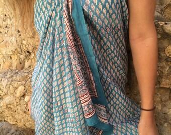 Ibiza Sarong in hand block print cotton