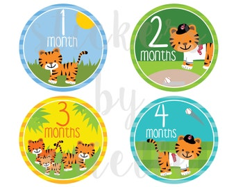 Month by Month Baby Stickers - Cleveland Indians (MLB) Theme