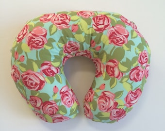 Boppy Cover - Amy Butler Love Tumble Roses Pink