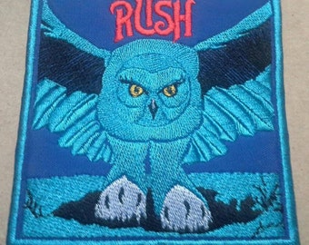 "Rush ""Fly by Night"" embroidered patch"