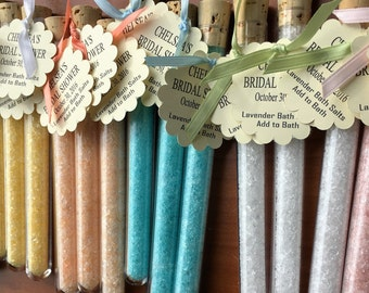 Bath Salt Favors Test Tube Party Favors Customized Party Favor Tea Party