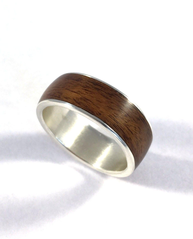 Wooden Wedding Bands For Men: Mens Wedding Band Wood Ring Wood Wedding Band Wooden Ring