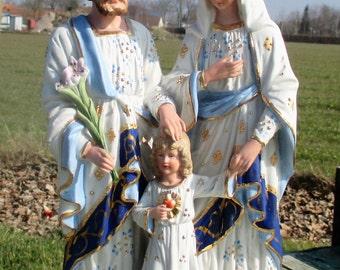 RESERVED TRAMNELSON Beautiful Statuette Holy Family Saint Joseph Virgin Mary Child Porcelain