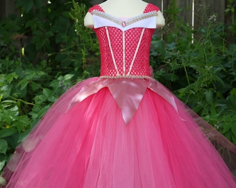 Sleeping Beauty inspired tutu dress, sleeping beauty costume, sleeping beauty dress, Princess dress, pink Princess tutu dress, pink tutu