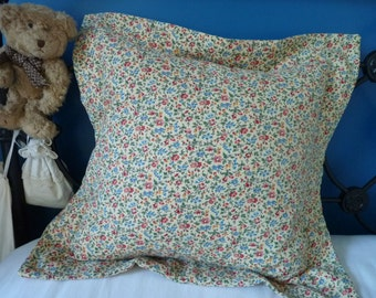 2 x handmade cushion covers/pillow slips made with French vintage fabrics