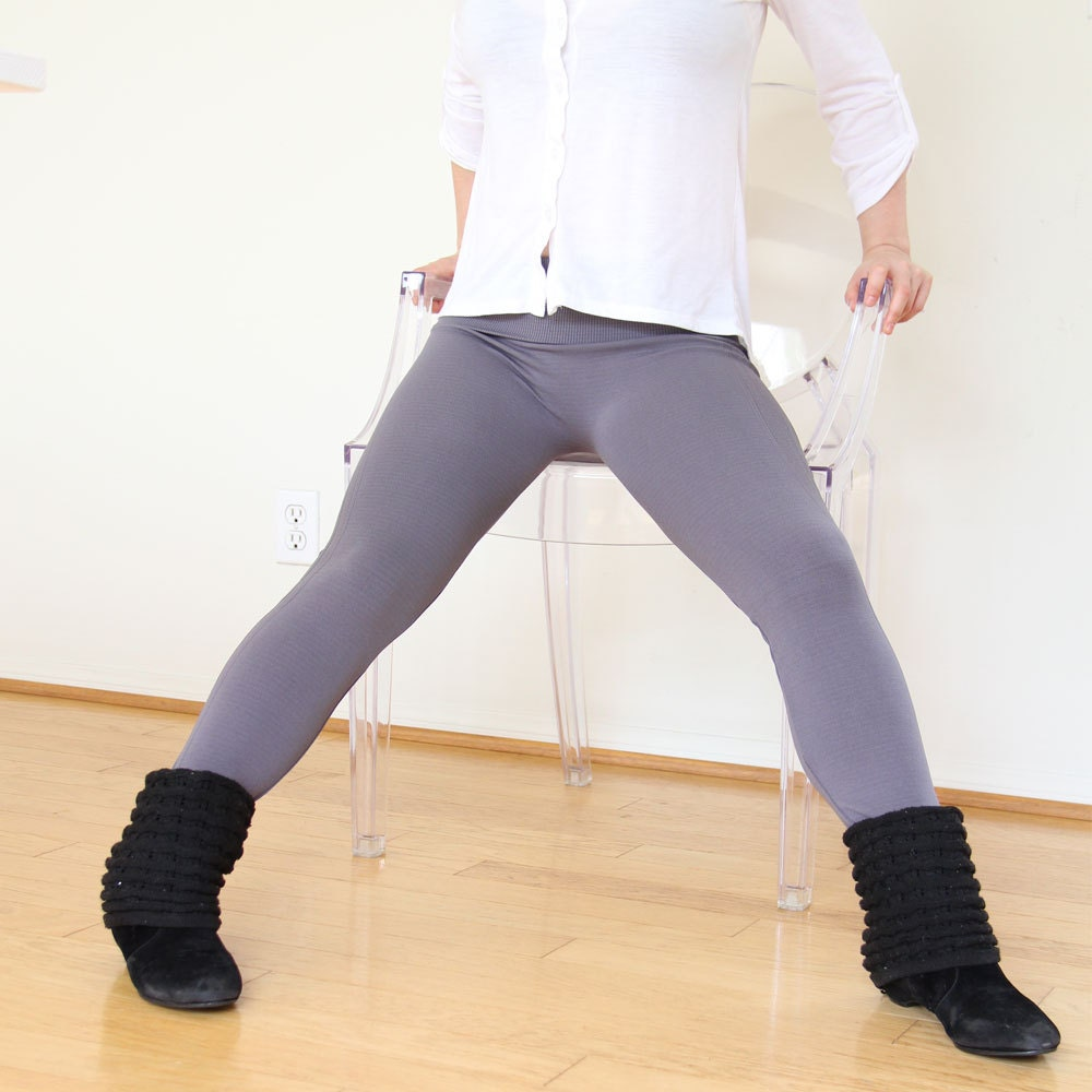 winter gray thick leggings gym pants spring legging grey