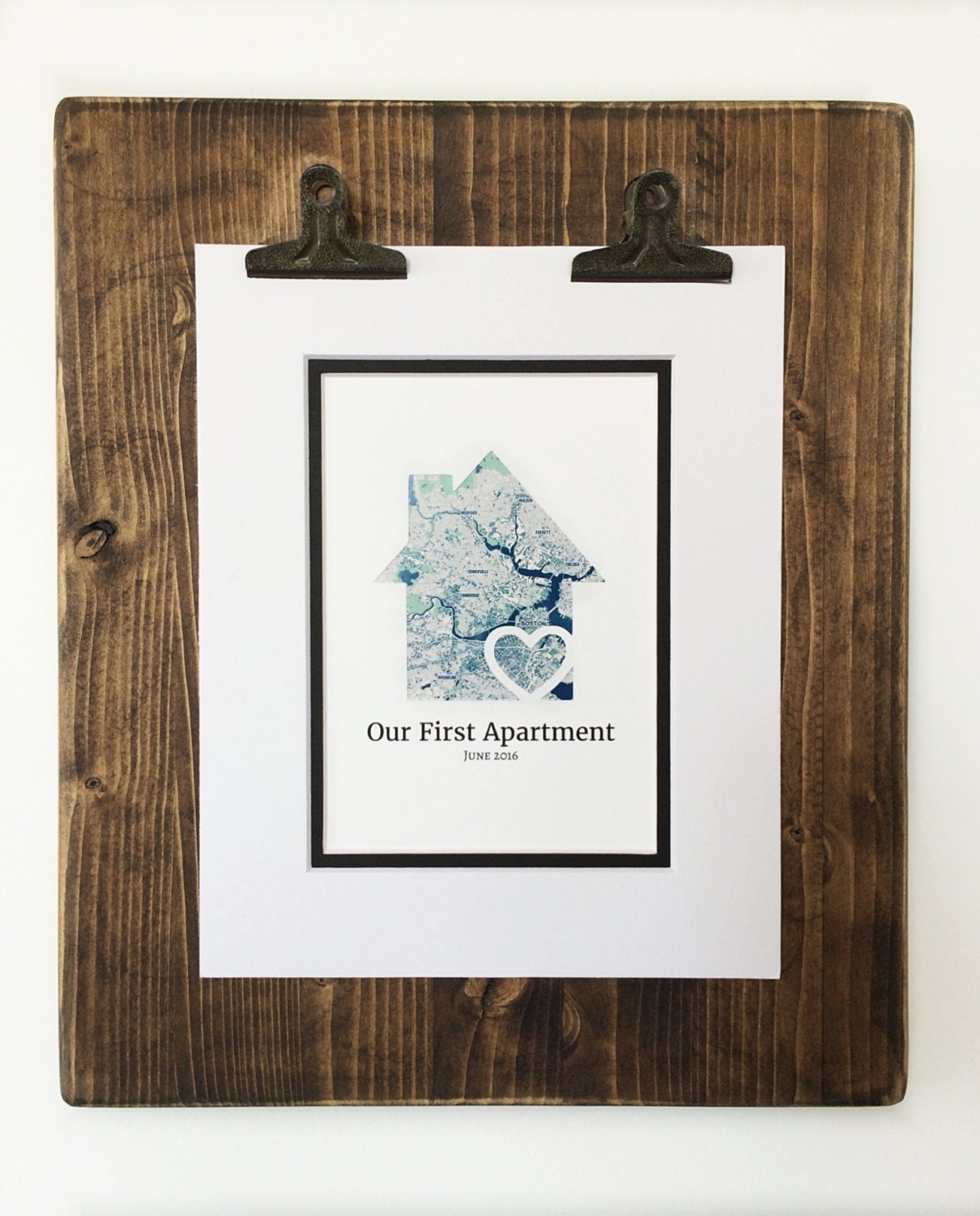 Our first apartment personalized map gift first by handmadehq for Gifts for first apartment