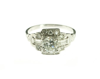 Platinum 1950s Engagement Ring