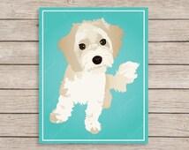 Havanese Art Print, Havanese Dog Art, Maltese Art, Havanese Decor, Havanese Wall Art, Gift for Dog Lover, Bichon Frise Art, Maltese Decor