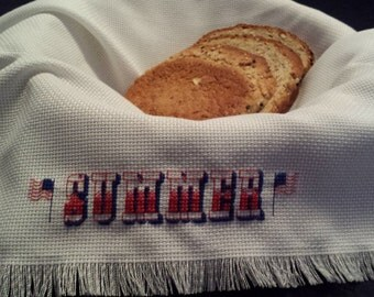 Patriotic summer themed breadcloth