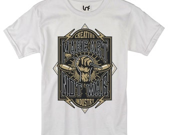 Make Art Not War Men's T-Shirt (SB1076)