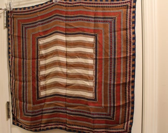 Vintage Striped Silk Scarf