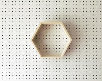 Reclaimed Wood Hexagon Shelf | Made in KC MO USA | Geometric