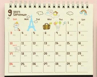 2017 Calendar, 2017 Desk Calendar