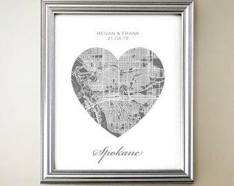 Spokane Heart Map