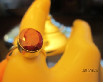 Art Nouveau 6.00CT Earth Mined Natural Ruby 925 Sterling Silver Solid Ring Size 8.75, Wt. 5.9 Grams