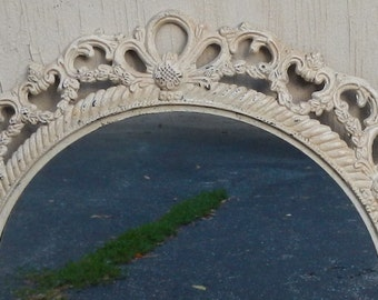 French Country Ornate Metal Mirror!
